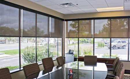 Window Shades or Blinds in office?