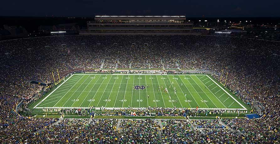 Notre Dame Stadium and DAS from Signals Defense