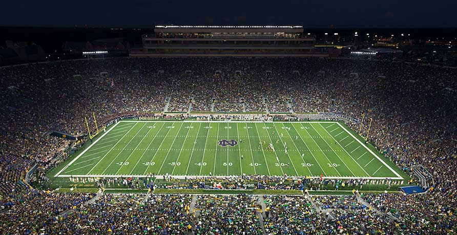 Notre Dame Stadium and DAS from Signals Defense
