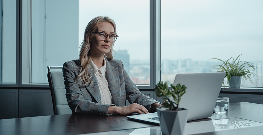 Woman Working with Low-E Windows